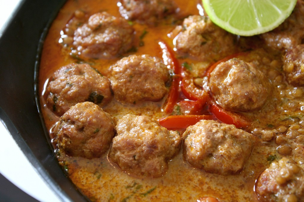 Pork & Lentil Thai Red Curry + Thai Pork Meatballs w/ Dipping Sauce