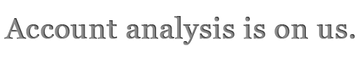 Account analysis is on us.