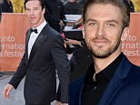 Here come the boys: Benedict Cumberbatch and Dan Stevens hit the Toronto Film Festival for their film The Fifth Estate