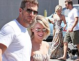 Past romance: Julianne Hough dated her ex Ryan Seacrest, left, for nearly three years before splitting in March
