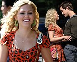 Hot! AnnaSophia Robb and Chris Wood looked ready to kiss as they filmed a scene for The Carrie Diaries in Brooklyn Heights, New York on Thursday