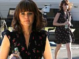 What Hoopla? Alexis Bledel puts the campaign by fans to have her cast in Fifty Shades Of Grey behind her as she heads to work