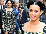 The mane event: Katy Perry shows off Heidi-style plaits as she unveils Prism album artwork on GMA