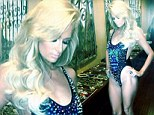 The thigh's the limit! Paris Hilton shows off her toned figure in daringly high cut swimsuit on set of new music video