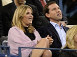 Date night: Leaving three-month-old Mila at home, new mom Jenna Bush Hager enjoyed an evening out with husband Henry at last night's U.S. Open match between Andy Murray and Stanislas Wawrink