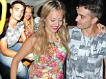 Tom Parker and his girlfriend Kelsey on a night out