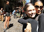 Never a bad angle: Victoria's Secret Angel Karlie Kloss turns the streets of New York into a runway with model best friend Jordan Dunn