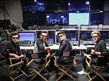 Top of the world: Harry Styles, Louis Tomlinson, Zayn Malik, Niall Horan and Liam Payne pose in their very own director's chairs