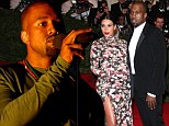 Pack your bags, baby! Kanye West announces North American tour... and Kim Kardashian and North will join his entourage