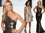 Beauty in bronze Heidi Klum is joined by guest judge Kerry Washington as they prepare to crown winner of Project Runway at Spring 2014 Fashion Show
