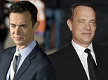 Mirror image: Colin Hanks is almost identical to his famous father Tom as he attends the TIFF premiere of Parkland