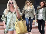 'I think we get every excuse in the world to eat a doughnut!': Jessica Simpson - pictured in LA on Wednesday - has defended new mom Kim Kardashian, both of whom have been criticised for their pregnancy weight gain