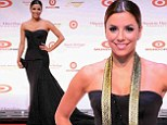 Lovely Latina! Eva Longoria shimmers in a strapless black gown as she's honoured at Hispanic Heritage Awards