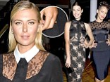 Stirring the pot: Maria Sharapova sparked rumours of an engagement as she continued to wear a new ring on her left hand on Friday at the Jason Wu show in New York City