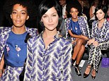 Snap! Solange Knowles and Leigh Lezark commit the ultimate sartorial sin arriving at New York Fashion Week show in same outfit