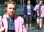 Goodbye, Girls! Lena Dunham and Zosia Mamet dress in colorful, quirky attire as they wrap season three of their hit show