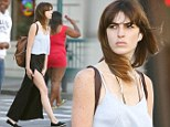 Off-duty beauty: Aspiring model Ali Lohan flashes her long, lean legs as she takes a stroll through New York's West Village
