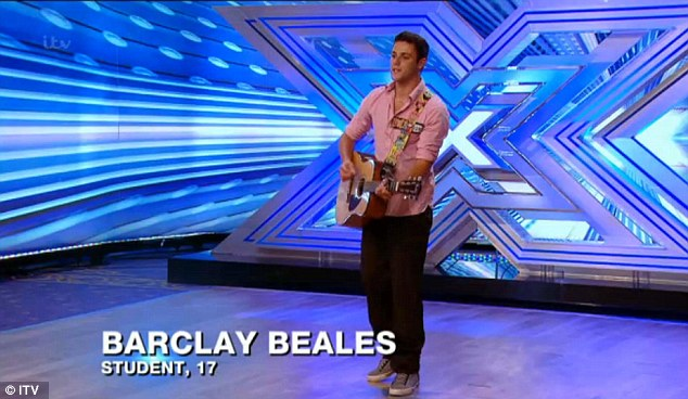Impressive: Barclay Beales surprises the judges by yodeling on Saturday night
