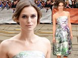 Into the woods she goes! Keira Knightly is stunning in a forest-inspired dress as she and Adam Levine welcome their film to the Toronto Film Festival