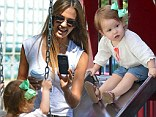 Stay right there! Jessica Alba captured every moment as she and her daughter Haven enjoyed an afternoon at a playground in New York's SoHo neighborhood on Friday