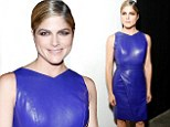Selma Blair electrifies NYFW in purple leather dress at Christian Siriano runway show