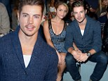 Nice distraction! Josh Henderson cuddles up to girlfriend Andrea Boehlke at the Nautica men's fashion show