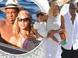 Showing up the rich kids of Instagram: Jay Z and Beyonce leave the world's most wealthy wanting as they continue to their luxury holiday with Blue Ivy