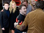 Daniel Radcliffe and Juno Temple arrive at the Horns premiere