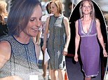 She's still got her curves: Helen Hunt, 50, shows off her sleek body while shooting a scene for her new film Ride
