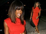 She's got the sex factor! Kelly Rowland wows in tight red dress to dine at Hollywood hotspot Madeo for second time in a week