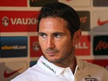 Hundred up: Frank Lampard should make appearance number 100 for England on Tuesday
