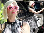 Gwen Stefani makes a solo appearance at Sparrow Madden's birthday party in Los Angeles