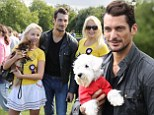 David Gandy attends Pup Aid in London