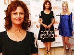 Passing the torch! Veteran actress Susan Saradon beams proudly at the premiere of her film with new star Dakota Fanning