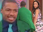 Twerk it: Nick Cannon schools Bethenny Frankel in the art of twerking on debut episode of her new chat show