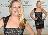 Sexy mama! Melissa Joan Hart puts her svelte figure on display in lacy black dress at Strut: The Fashionable Mom Show