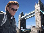 American actor Sean Penn is seen filming 'The Gunman' on London's Tower Bridge.