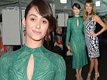 Emmy Rossum and Stacy Keibler lead the fashion pack front row at Monique Lhuillier's NYFW show