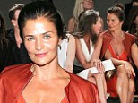 Fancy meeting you here! Supermodels Christy Turlington and Helena Christensen enjoy a catch up in the star studded front row at Edun's NYFW showcase