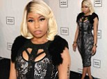 A change of tune! Nicki Minaj leaves behind her inner wild child to be an elegant spectator at the Herve Leger show at New York Fashion Week