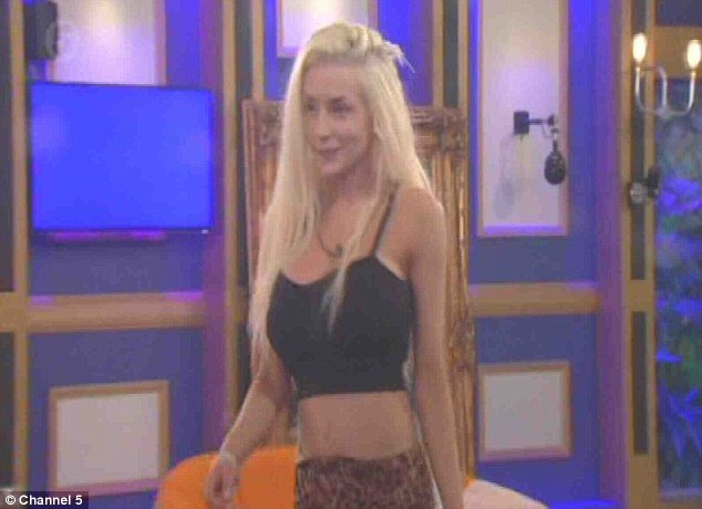 Courtney Stodden enjoyed a few drinks in the Celebrity Big Brother house on Thursday evening