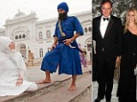 Alexandra Aitken, the socialite daughter of Jonathan Aitken (right) is said to have split from her Sikh warrior husband Inderjot Singh (left and centre).