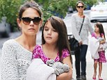 Rest and relaxation! Katie Holmes and Suri Cruise enjoy a girls' day as the tot continues to heal after breaking her arm