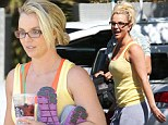 Baby one more time: Britney Spears sweats through yet another day of dance rehearsals as she prepares for Las Vegas residency