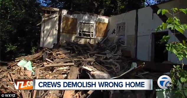 The old switcheroo: A man in Michigan switched his address numbers with the house next door in an attempt to save his home from being demolished