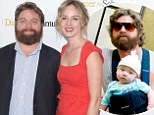 They kept that quiet! Zach Galifianakis skips movie premiere as 'very pregnant' wife Quinn Lundberg 'about to give birth' to couple's first child