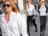 Lindsay Lohan gets her caffeine fix and is ready for Fashion Week