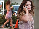 Vanessa Hudgens on the set of new zombie movie Kitchen Sink in Hollywood