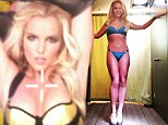 Britney Spears looks stunning as she shows off her enviably svelte figure in a turquoise bikini
