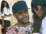 Naomi Campbell attends The Moet & Chandon Suite with singer, Maxwell